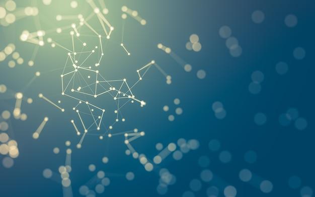Moléculas abstratas, conectando pontos e linhas