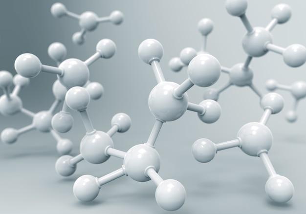 Moléculas de dna ou átomo