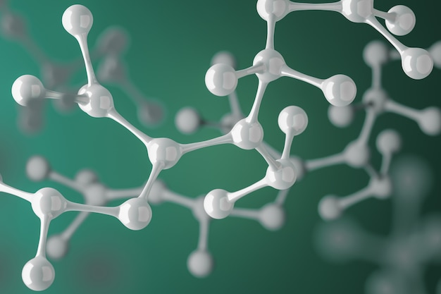 Moléculas maquete fundo abstrato para ciência ou medicina