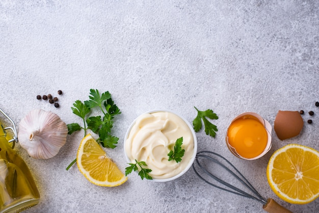Molho de maionese caseiro com ingrediente