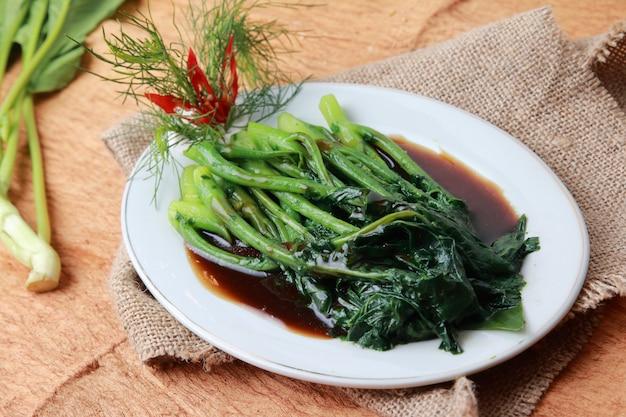 Molho de ostra kailan vegetal