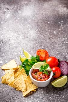 Molho de salsa tradicional tomate mexicano