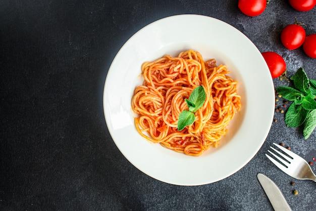 Molho de tomate macarrão espaguete