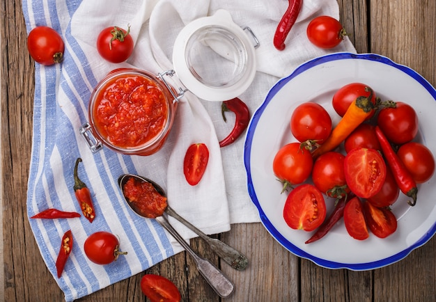 Molho de tomate picante