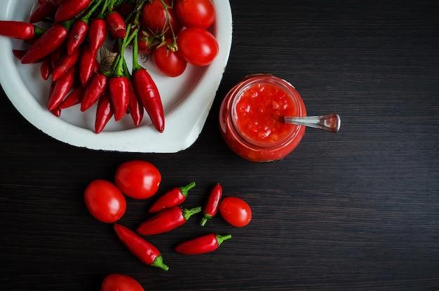 Molho quente de ketchup de tomate