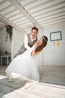 Momento emocional da dança do casamento
