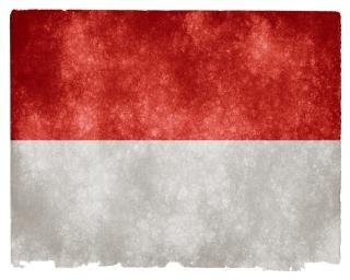 Monaco grunge bandeira