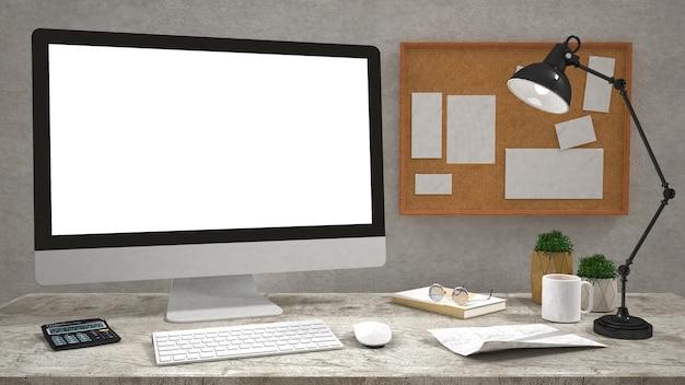 Monitor de computador de tela plana moderna