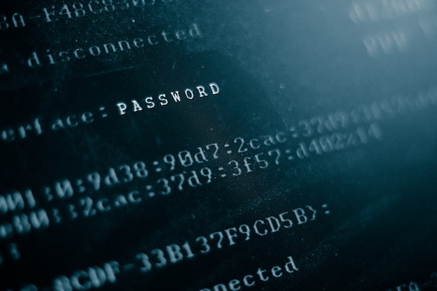Monitor de computador hackeado