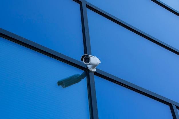 Monitoramento de cftv. câmera de vigilância de vídeo externa para proteção de objetos.