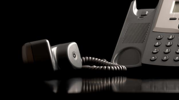 Monofone do telefone fora do gancho