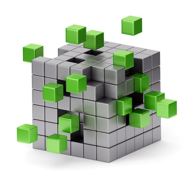 Montagem de cubo 3d