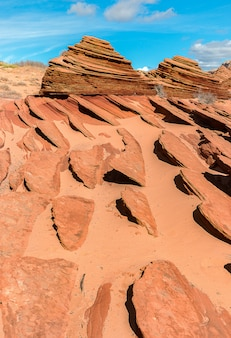 Montanha ao redor da onda, idade do jurássico na terra, arizona