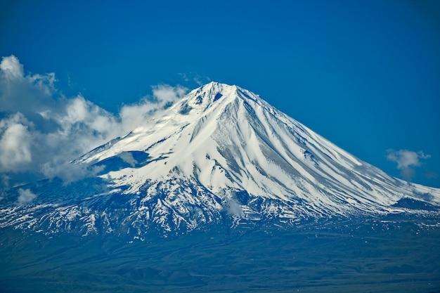 Montanha de ararat, vista da armênia