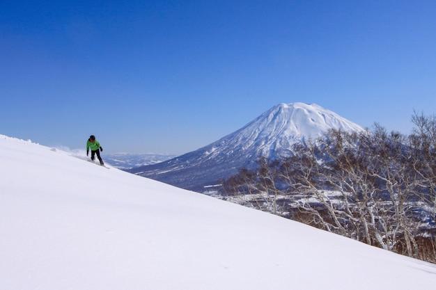 Montanha de neve japonesa - monte fuji