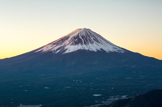 Montanha, fuji, amanhecer, japão