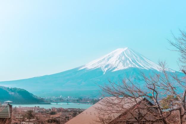 Montanha fuji no inverno
