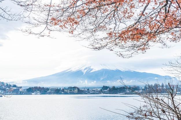 Montanha fuji san com nublado