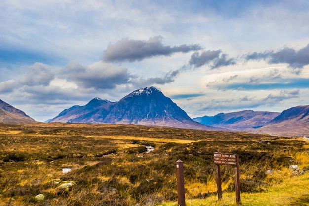 Montanha glencoe nas terras altas da escócia