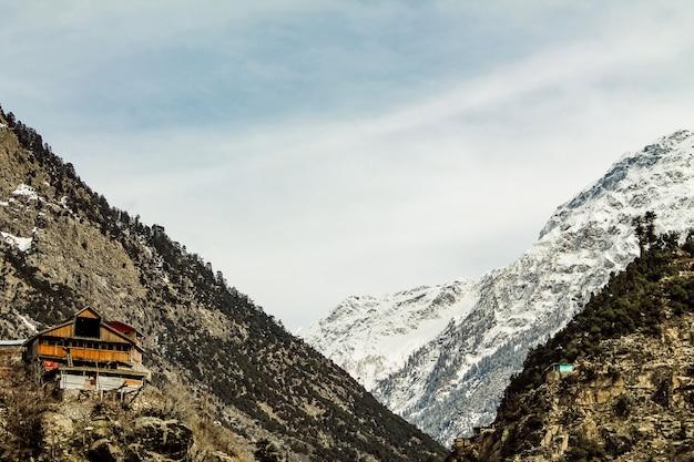 Montanha neve, em, kalam, swat, paisagem paisagem