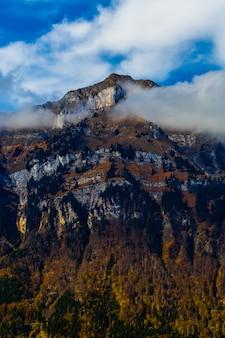 Montanha outono árvores paisagem, suíça