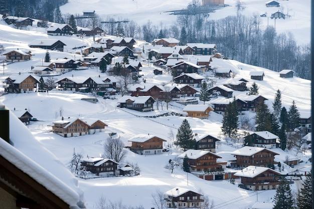 Montanha suíça, jungfrau, suíça, estância esqui