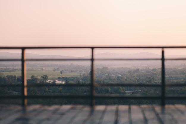 Montanha vista da varanda