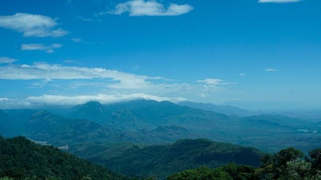Montanhas bonitas de western ghats