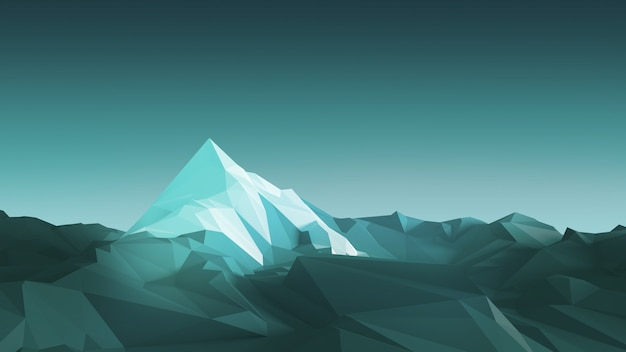 Montanhas de baixo poli
