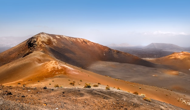 Montanhas de fogo, timanfaya em lanzarote