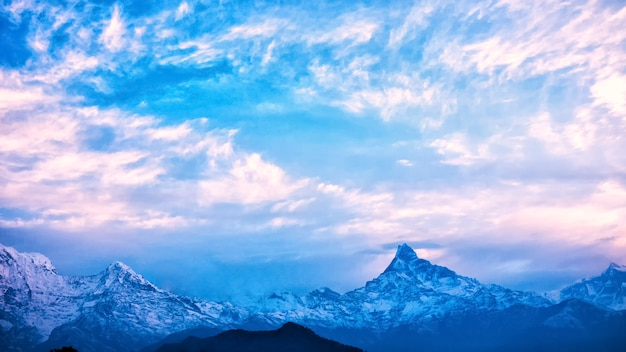 Montanhas do himalaia, nepal