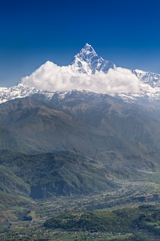 Montanhas machhapuchhre e annapurna