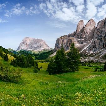 Montanhas nos alpes