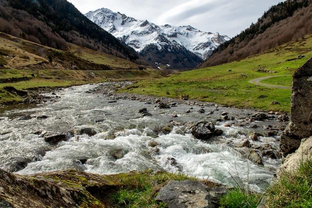 Montanhas pyrenees, frontera, de, portalet, huesca, aragon, espanha