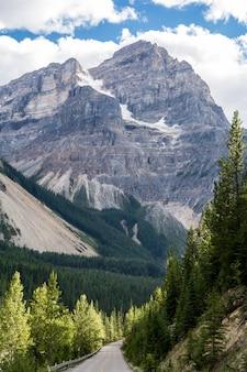 Montanhas rochosas. canadá. estrada de gelo de icefields. bela vista.