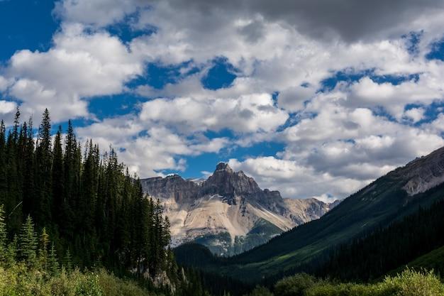 Montanhas rochosas. canadá. estrada de gelo de icefields.