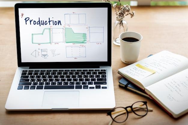 Montar padrão de negócios de produção de manufatura