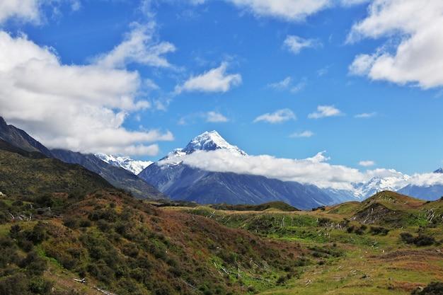 Monte cook no parque nacional, nova zelândia