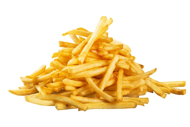 Monte de batatas fritas