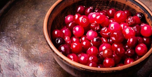 Monte de cranberries bagas