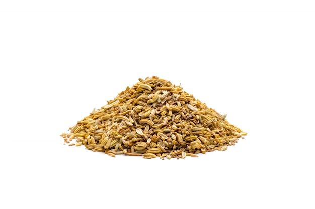 Monte de sementes de cominho