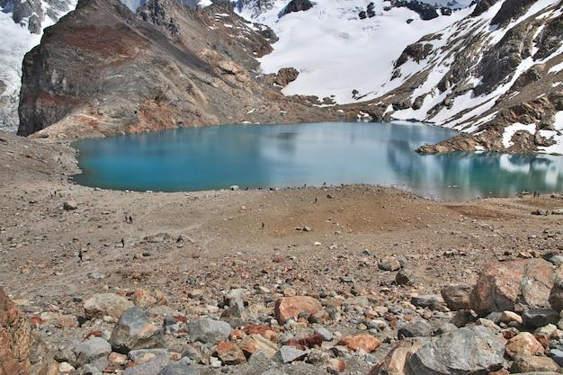 Monte fitz roy perto de el chalten na patagônia argentina