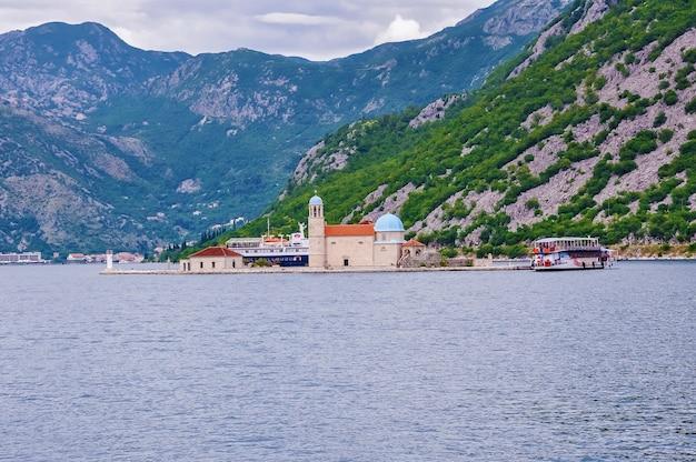 Montenegro baía de kotor ilha de nossa senhora das rochas gospa od skrpjela e ilha