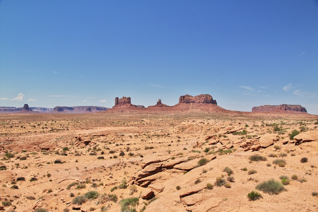 Monument valley em utah e arizona, eua