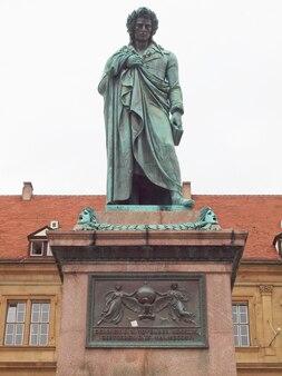 Monumento ao poeta schiller em stuttgart, alemanha