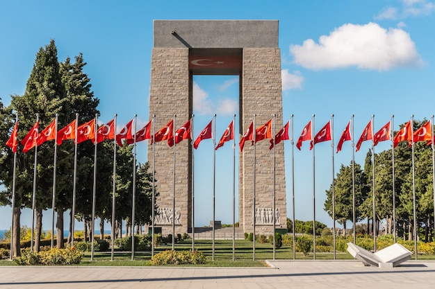Monumento aos mártires de canakkale