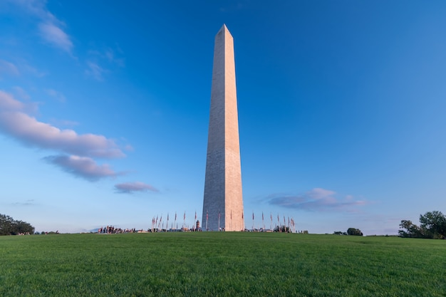 Monumento de washington em washington dc, estados unidos da américa, eua