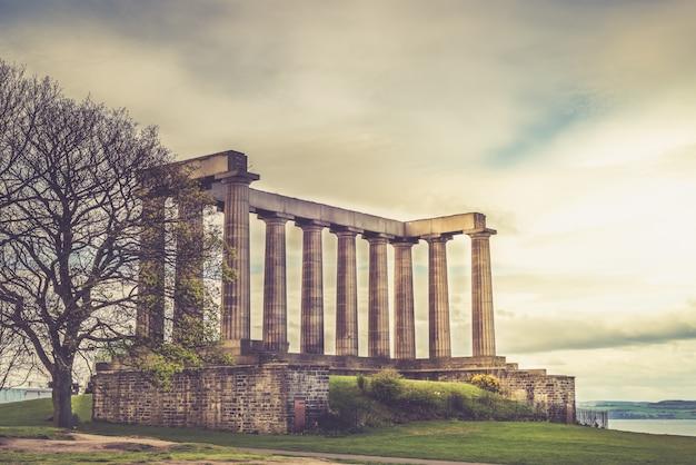 Monumento nacional, de, escócia, ligado, monte calton, em, edimburgo, escócia