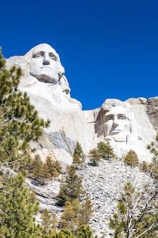 Monumento nacional do monte rushmore em south dakota.