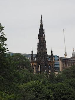 Monumento walter scott em edimburgo